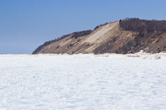 Frankfort Michigan sand dune Stock Images