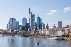 Frankfurt śródmieścia linia horyzontu Fotografia Stock