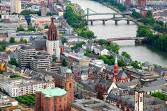 Frankfurt. Old town, Roemer and Rhine in Frankfurt, Germany stock image