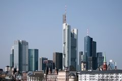 Frankfurt. Skyline of Frankfurt a.M., Germany Royalty Free Stock Photo