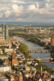 Frankfurt from above Royalty Free Stock Photos