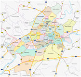 Frankfurt administrative map Royalty Free Stock Photography