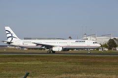Frankfurt Airport - Aegean Air takes off Royalty Free Stock Photo