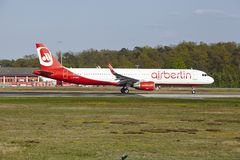 Frankfurt Airport - airberlin takes off Stock Photo
