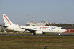 Frankfurt Airport - AirEuropa takes off Stock Image