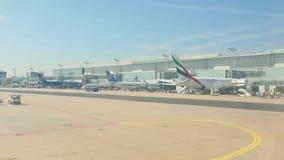 Frankfurt Airport apron traffic stock video