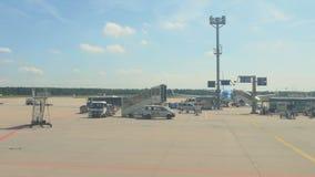 Frankfurt Airport apron traffic stock footage