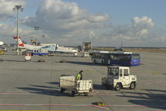 Frankfurt Airport, Boarding at Outer Positions Royalty Free Stock Photography