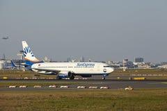 Frankfurt Airport - Boeing 737-800 of SunExpress takes off Stock Photo
