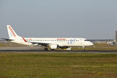 Frankfurt Airport - Embraer ERJ-195 of AirEuropa takes off Royalty Free Stock Photography
