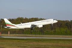 Frankfurt Airport - Embraer ERJ-190 of Bulgaria Air takes off Stock Photos