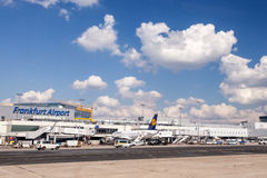 Frankfurt Airport, Germany Royalty Free Stock Photography
