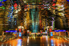 Frankfurt Airport long-distance station at night Royalty Free Stock Photo
