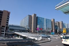 Frankfurt airport terminal 1. Hotels near the airport Stock Images