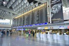 Frankfurt airport terminal 1. Time tablet Stock Photography