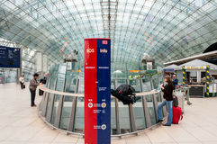 Frankfurt Airport Train Station Stock Images