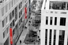 Frankfurt alei rozprzy Uliczny centrum handlowe fotografia royalty free