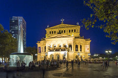 Frankfurt Alte Oper by night Stock Photo