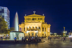 Frankfurt Alte Oper by night Royalty Free Stock Images