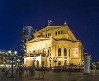 Frankfurt Alte Oper by night Stock Images