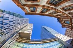 Palais Quartier i huvudsakliga Frankfurt - förmiddag - Royaltyfri Bild