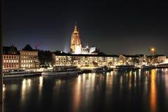 Frankfurt architecture by night Stock Photo