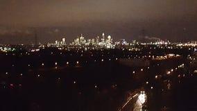 Frankfurt bij Nacht royalty-vrije stock afbeelding