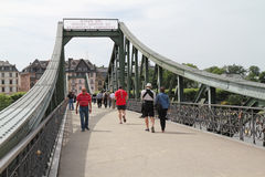 Frankfurt bridge Royalty Free Stock Photo