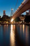 Frankfurt Bridge, Germany stock photography