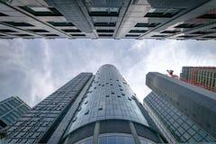 Frankfurt budynki i nieba obraz stock