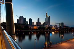 Frankfurt business district, Germany Stock Photography