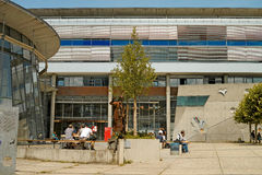 Frankfurt Campus. Frankfurt, Germany - July 11, 2013: Campus of the Frankfurt University of Applied Sciences (also known as Fachhochschule Frankfurt am Main or Royalty Free Stock Photo