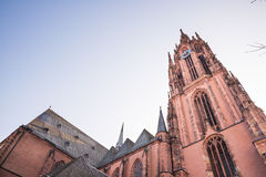 The Frankfurt Cathedral from bottom to top view Royalty Free Stock Image