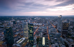 Frankfurt CBD at dusk Royalty Free Stock Image