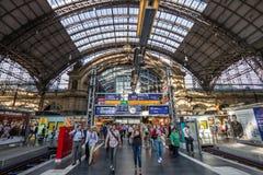 Frankfurt central drevstation Royaltyfria Foton