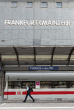 Frankfurt Central Rail Station Schedule Board Royalty Free Stock Photos