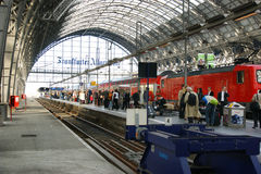 Frankfurt train station Stock Photography