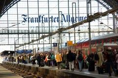 frankfurt train station Stock Photos