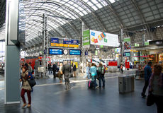 Frankfurt Central Train Stock Images