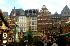 Frankfurt in the Christmas time Royalty Free Stock Photography