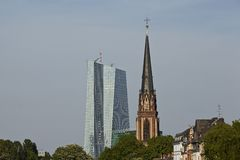 Frankfurt - Church of the Three Kings Stock Image