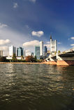 Frankfurt city in daytime royalty free stock image