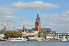 Frankfurt city. Dom cathedral in background Royalty Free Stock Photo