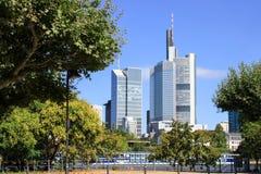 Frankfurt city skyscrapers Stock Image