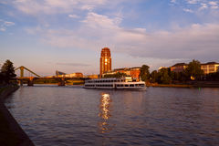 Frankfurt city before sunset Stock Image