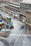 Frankfurt city urban road Stock Images