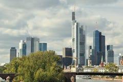 Frankfurt cityscape Stock Photo