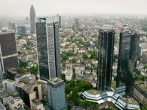 Frankfurt Cityscape. Birds-eye view on a Frankfurt city center Stock Photo