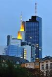 Frankfurt city at blue hour Stock Photography