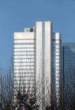 Frankfurt cityscape Stock Photos